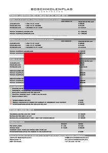 Prijslijst Jachthaven Limburg Boschmolenplas